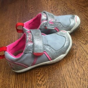 Plae Girls Sneakers-Silver and Pink